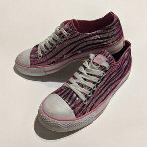 Gotta Flurt Glitter Zebra Print Shoes